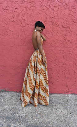 GOLDIE Backless Maxidress