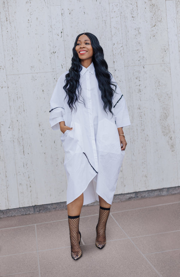 RAID HIS CLOSET Shirt Dress in White