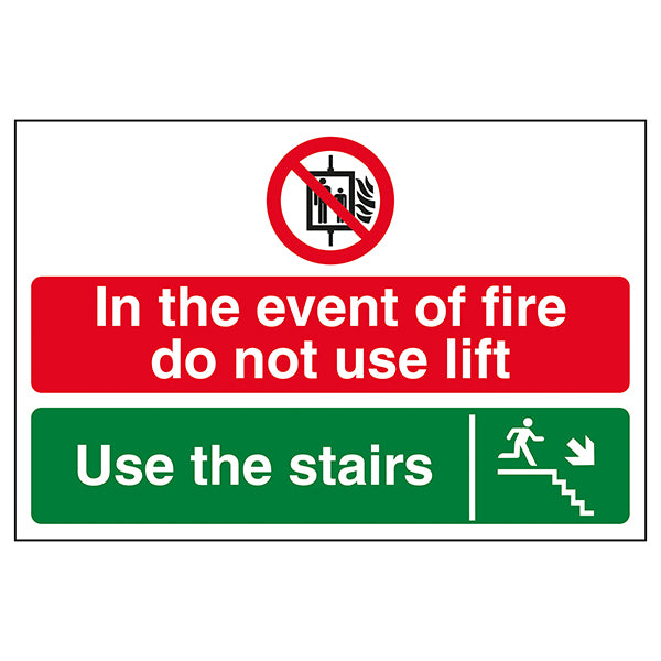 Photoluminescent Sign Staircase must be kept clear Sticker 100x100mm