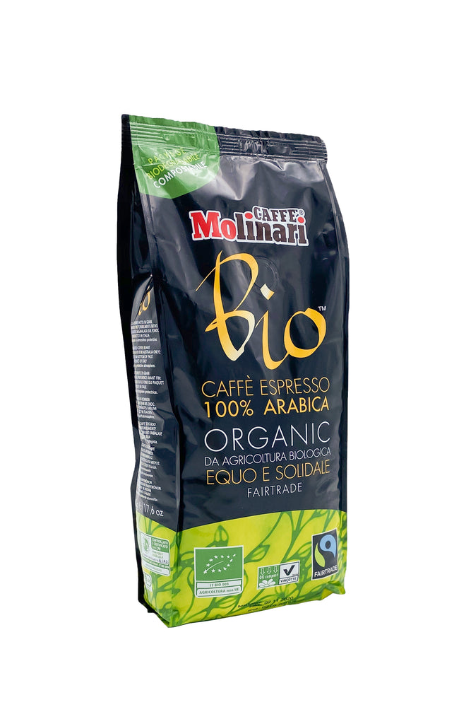 MOLINARI Bio & Fairtrade – 500 g, ganze Bohne