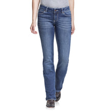 "Load image into Gallery viewer, WMNS RETRO MID RISE BOOTCUT JEAN MAE 34"" LEG"