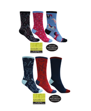 Load image into Gallery viewer, BAMBOO SOCKS 3-PACK