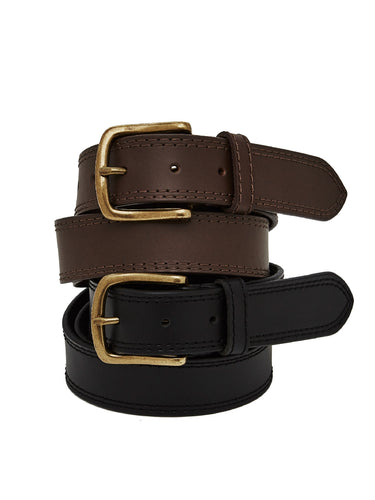 35mm Jeans Belt with Antique Brass Buckle