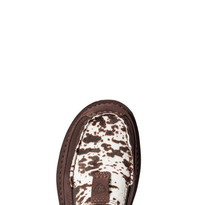 S20 ARIAT WMS CRUISER CHOCOLATE CHIP SUEDE SPOTTED HAIR ON