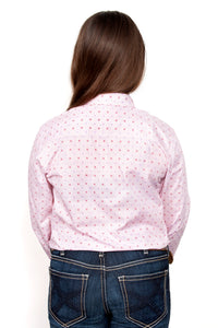 JC GLS HARPER HALF BUTTON PRINT WORKSHIRT