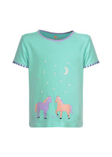 Load image into Gallery viewer, GIRLS GLOW IN THE DARK HORSE PJs