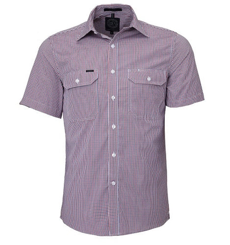 Mens S/S Shirt Double Pockets