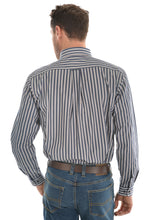 Load image into Gallery viewer, MENS BATANDRA STRIPE 2 PKT L/S SHIRT