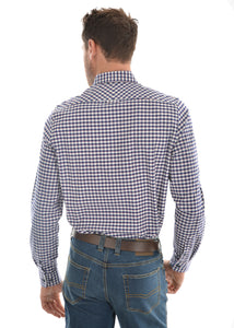 MENS MASON CHECK TAILORED L/S SHIRT