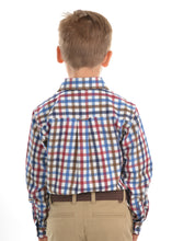 Load image into Gallery viewer, BOYS EVANS CHECK 2-PKT L/S SHIRT