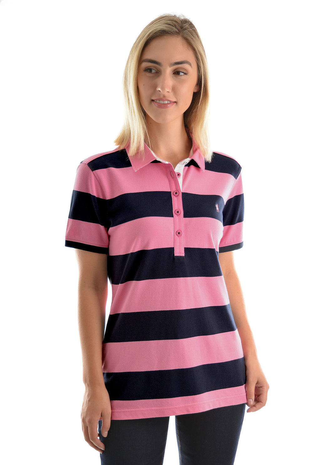 WMNS RACHEL STRIPES/S POLO