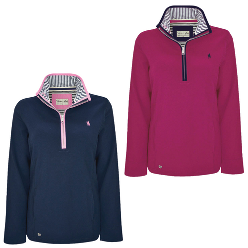 WMNS CHARLIE CLASSIC1/4 ZIP NECK RUGBY