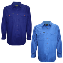 Load image into Gallery viewer, MENS FULL PLACKETLIGHT COTTON SHIRT