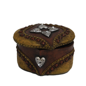 OVAL HEARTS SMALL JEWELLERY BOX