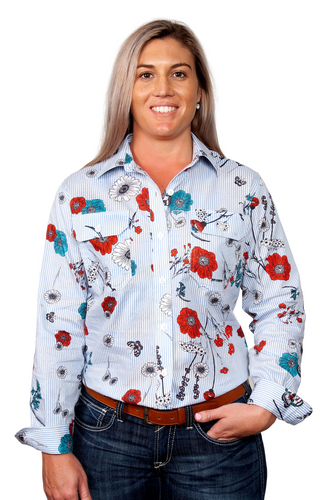 WI20 JC WMS ABBEY FULL BUTTON PRINT WORKSHIRT