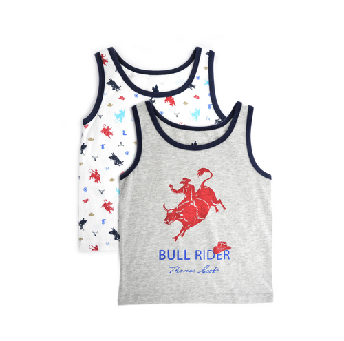 BOYS SINGLET (TWIN PACK)