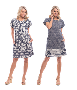 VALENCIA REVERSIBLE DRESS PRINT