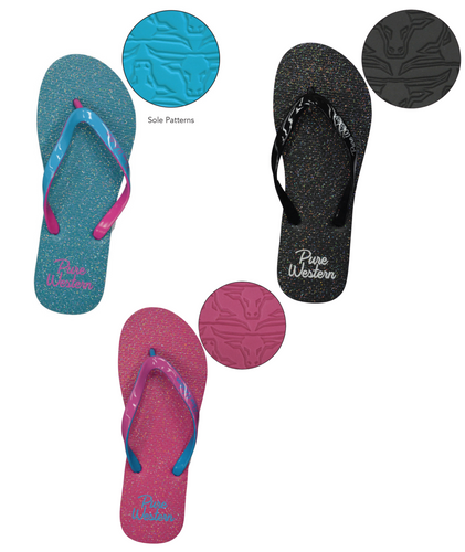 GLITTER WOMENS THONGS