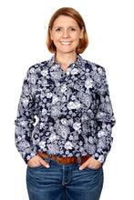 Load image into Gallery viewer, JC WMS GEORGIE HALF BUTTON PRINT WORKSHIRT