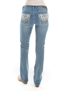 WMNS SIT ABOVE HIP JEAN 34 LEG