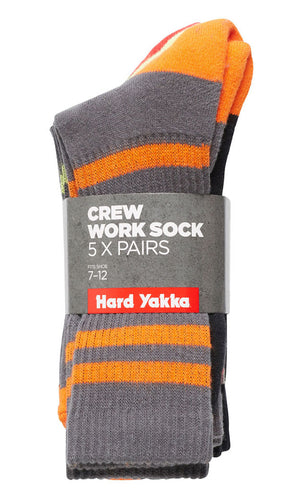 HY CREW SOCK 5 PACK
