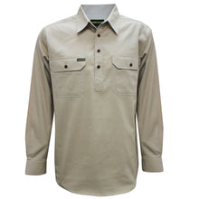 Load image into Gallery viewer, MENS HALF PLACKETLIGHT COTTON SHIRT