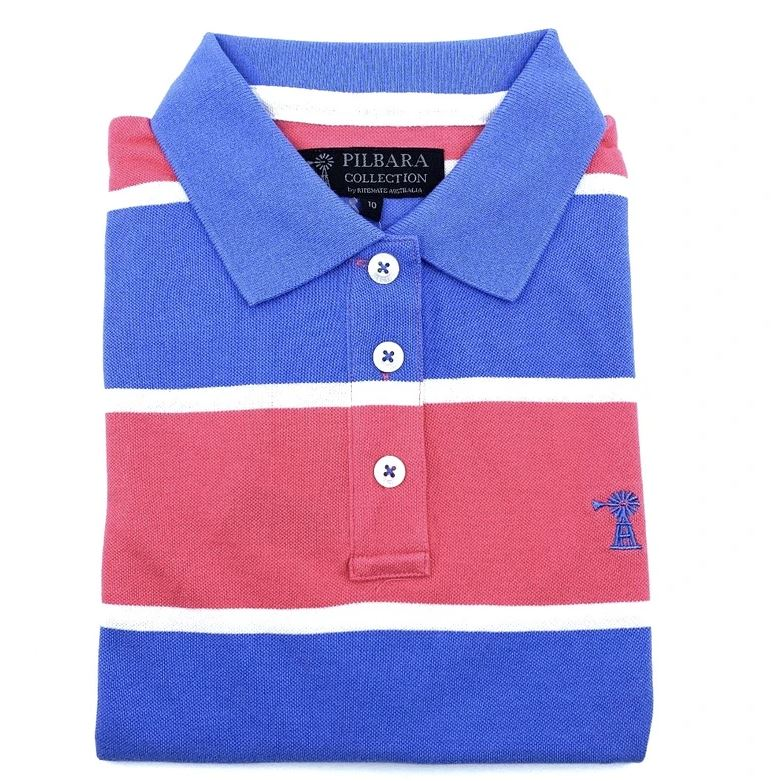 Pilbara Ladies Y/D Striped Polo