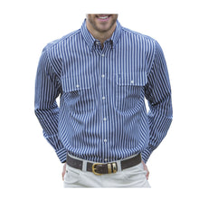 Load image into Gallery viewer, MENS WINTON STRIPE2-PKT L/S SHIRT