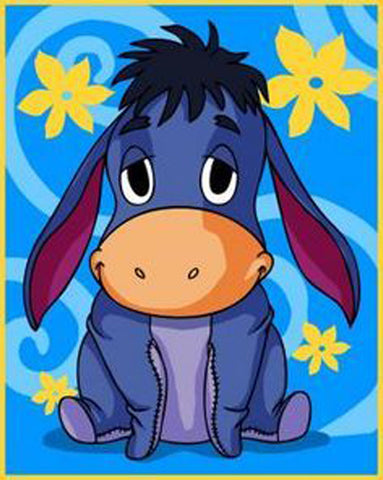FLOWER EEYORE Diamond Painting Kit