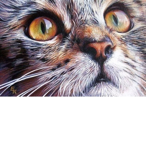Image of GREEN EYES KITTY  Diamond Painting Kit - DAZZLE CRAFTER