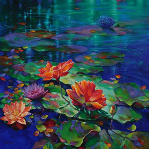 LOTUS IN THE LAKE Diamond Painting Kit - DAZZLE CRAFTER