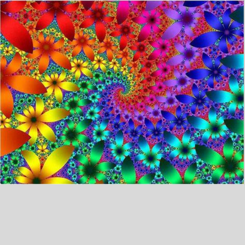 PSYCHEDELIC FLOWER WAVE Diamond Painting Kit - DAZZLE CRAFTER