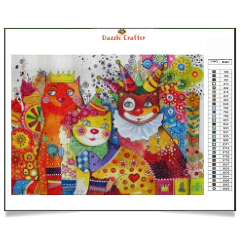 Image of CATS IN THE CARNIVAL Diamond Painting Kit - DAZZLE CRAFTER