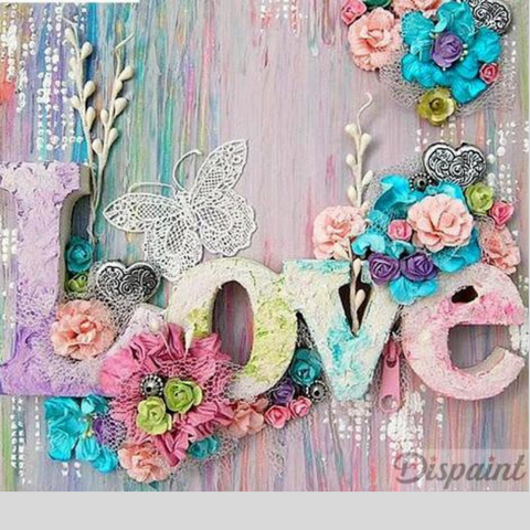 Image of FLOWER LOVE Diamond Painting Kit - DAZZLE CRAFTER