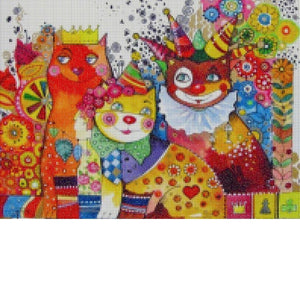 CATS IN THE CARNIVAL Diamond Painting Kit - DAZZLE CRAFTER