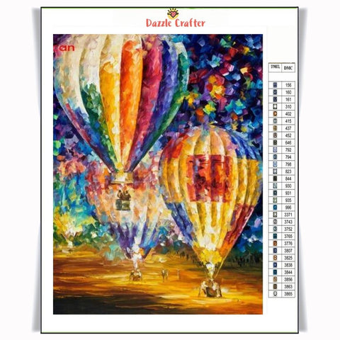 Image of MULTICOLOR PARACHUTES Diamond Painting Kit - DAZZLE CRAFTER
