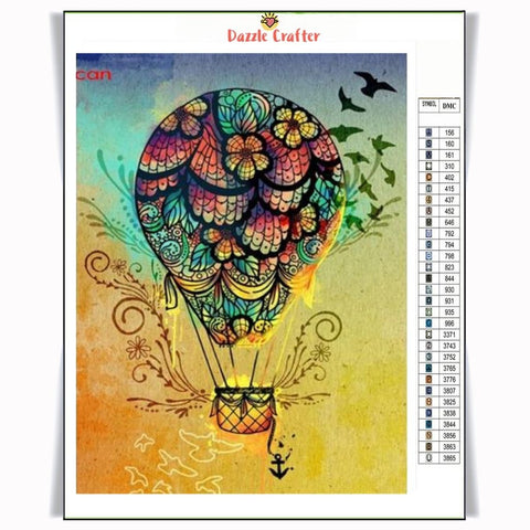 Image of FLYING AWAY PARACHUTE Diamond Painting Kit - DAZZLE CRAFTER
