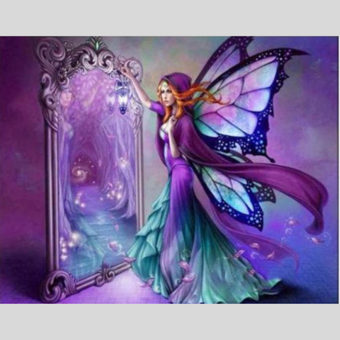 Image of BUTTERFLY GIRL Diamond Painting Kit - DAZZLE CRAFTER
