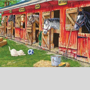 HORSES IN THE STABLE Diamond Painting Kit - DAZZLE CRAFTER