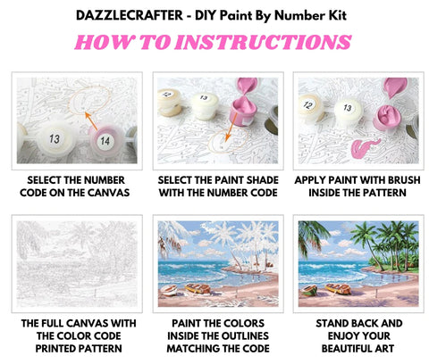 Image of MT FUJI JAPAN & CHERRY BLOSSOMS - DIY Adult Paint By Number Kit