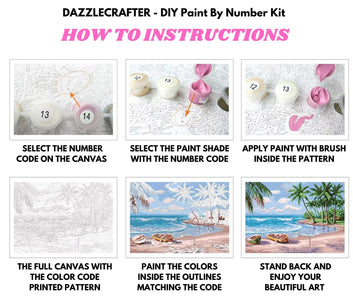 WATERCOLOR FLOWERS  - DIY Adult Paint By Number Kit