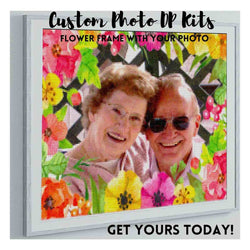 CUSTOM PHOTO WITH TROPICAL FLOWER FRAME - MAKE YOUR OWN DIAMOND PAINTING
