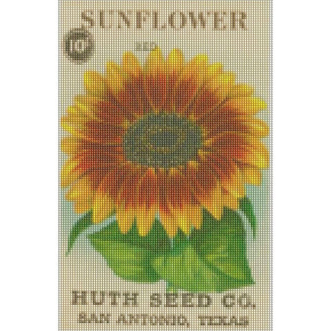 Image of VINTAGE SUNFLOWER SEED PACKET Diamond Painting Kit - DAZZLE CRAFTER