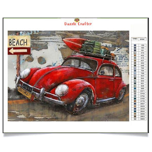 MY RED CAR Diamond Painting Kit - DAZZLE CRAFTER