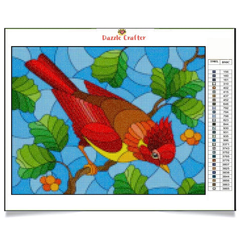Image of LITTLE RED BIRDIE Diamond Painting Kit - DAZZLE CRAFTER