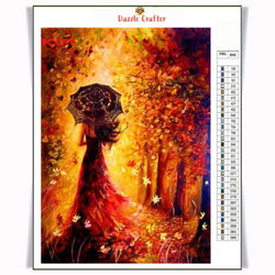 LADY IN AUTUMN Diamond Painting Kit - DAZZLE CRAFTER