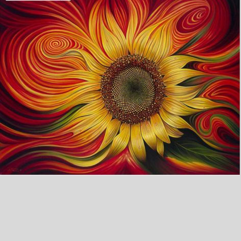 Image of RED SUNFLOWER Diamond Painting kit - DAZZLE CRAFTER