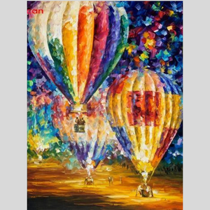 MULTICOLOR PARACHUTES Diamond Painting Kit - DAZZLE CRAFTER