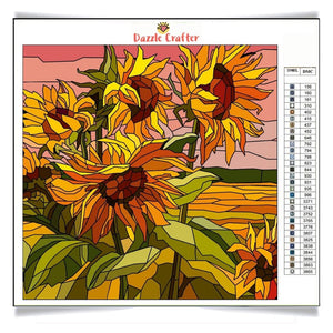 DANCING SUNFLOWERS  Diamond Painting Kit - DAZZLE CRAFTER