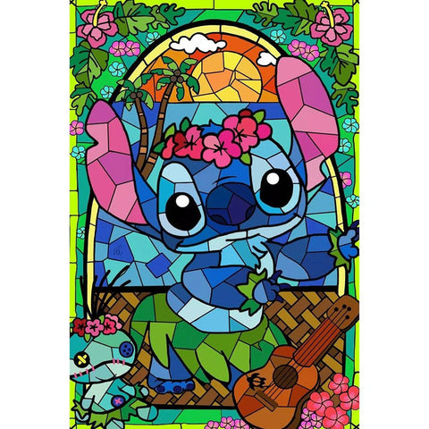 Image of BLUE KOALA STAINED GLASS  Diamond Painting Kit